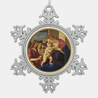 Madonna by Botticelli. Christmas Gift Ornaments