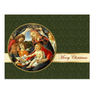 Madonna by Botticelli. Fine Art Christmas Postcard