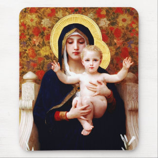 Madonna by Bouguereau. Christmas Gift Mousepad