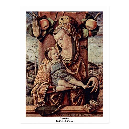 Madonna By Crivelli Carlo Postcard