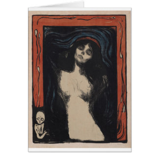 Madonna by Edvard Munch,symbolist painter Card