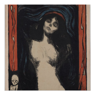 Madonna by Edvard Munch,symbolist painter Poster