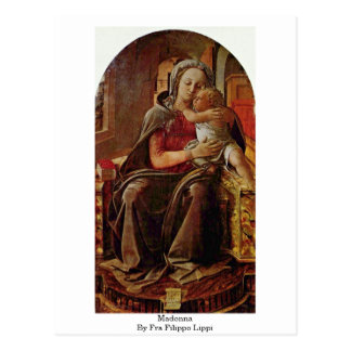 Madonna By Fra Filippo Lippi Postcard