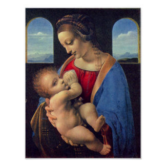 Madonna by Leonardo da Vinci Posters