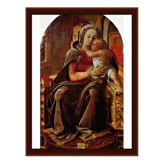 Madonna By Lippi Filippino Postcard