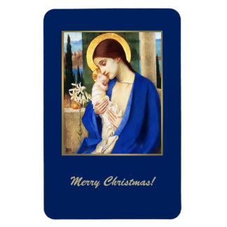 Madonna by Marianne Stoke. Christmas Gift Magnet