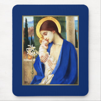 Madonna by Marianne Stoke. Christmas Gift Mousepad