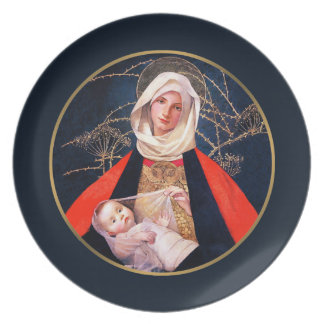 Madonna by Marianne Stoke.  Christmas Gift Plates
