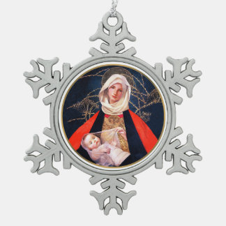 Madonna by Marianne Stoke. Snowflake Ornaments
