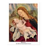 Madonna By Mathis Grunewald Gothart Postcard
