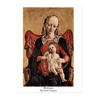Madonna By Tura Cosimo Postcard