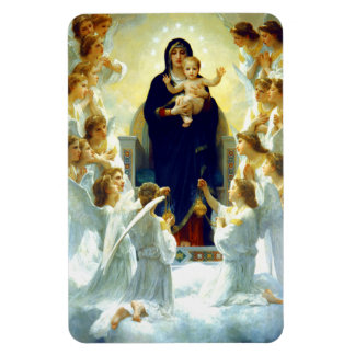 Madonna by W. Bouguereau. Christmas Gift Magnet