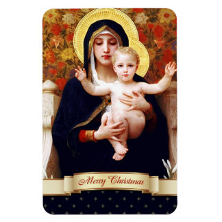 Madonna by W.Bouguereau. Christmas Gift Magnet