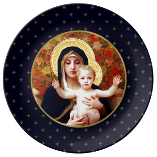 Madonna by W. Bouguereau. Christmas Gift Plates