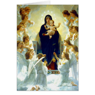 Madonna by W.Bouguereau. Fine Art Christmas Cards