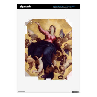 Madonna Carried by Angels (ceiling fresco) Decal For iPad 3