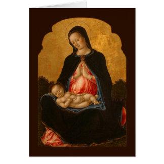 Madonna & Child art greeting card