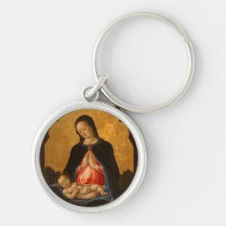 Madonna & Child art key chain