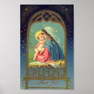 Madonna & Child Christmas Holiday Poster