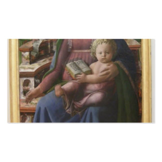 Madonna Child Enthroned Angels by Filippo Lippi Business Cards