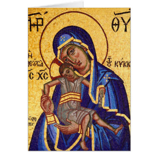 Madonna & child mosaic card