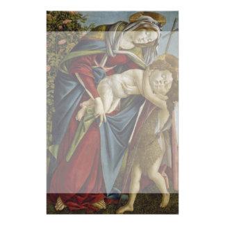 "Madonna, Child, St John the Baptist by Botticelli 5.5"" X 8.5"" Flyer"