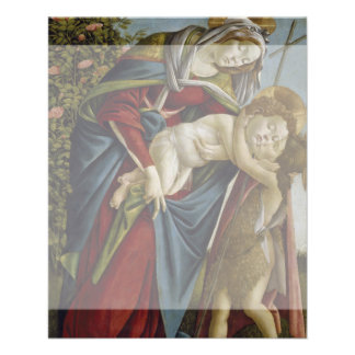 "Madonna, Child, St John the Baptist by Botticelli 4.5"" X 5.6"" Flyer"