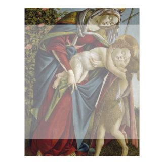 "Madonna, Child, St John the Baptist by Botticelli 8.5"" X 11"" Flyer"