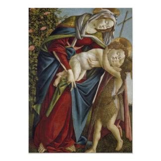 Madonna, Child, St John the Baptist by Botticelli Custom Announcement
