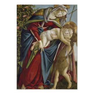 Madonna, Child, St John the Baptist by Botticelli Personalized Invites