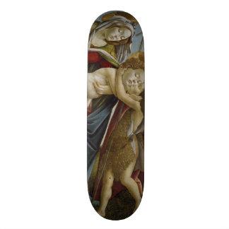 Madonna, Child, St John the Baptist by Botticelli Skateboard Deck