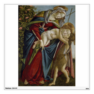 Madonna, Child, St John the Baptist by Botticelli Wall Decal