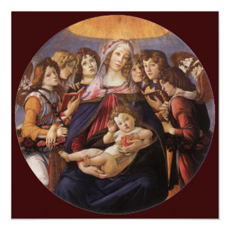 Madonna Child w Angels Baby Shower by Botticelli Personalized Announcements