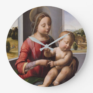 Madonna & Child with John the Baptist Large Clock