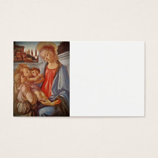 Madonna Christ Child and Angels Business Card