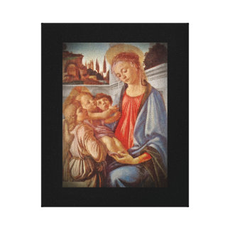 Madonna Christ Child and Angels Stretched Canvas Prints