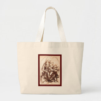 Madonna & Christ Child holding a Cat Large Tote Bag