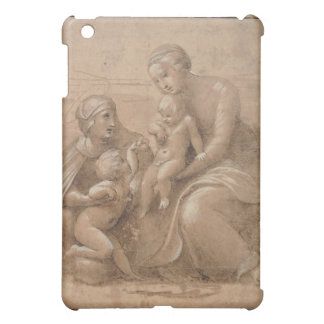 madonna col bambino san giovannino by Raffaello iPad Mini Covers