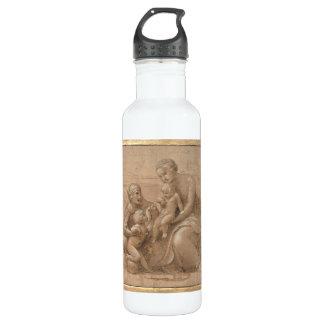 madonna col bambino san giovannino by Raffaello Water Bottle