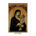 Madonna con ángeles de Duccio Di Buoninsegna Postales