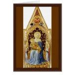 Madonna con ángeles de Gentile da Fabriano Felicitaciones