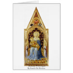 Madonna con ángeles de Gentile da Fabriano Tarjeta