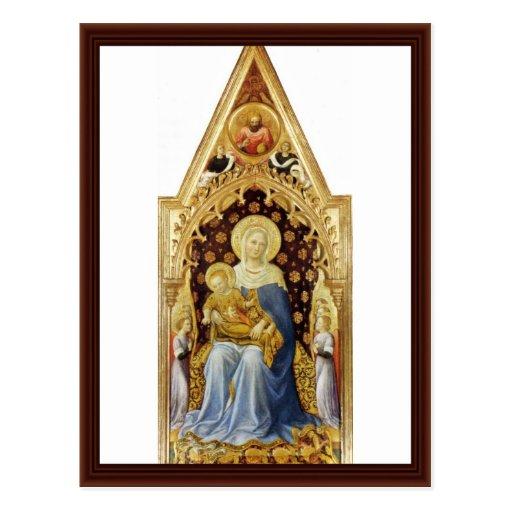 Madonna con ángeles de Gentile da Fabriano Postales