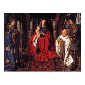 Madonna con Canon van der Paele Postal