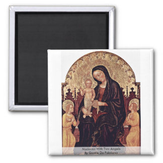 Madonna con dos ángeles de Gentile da Fabriano Iman Para Frigorífico