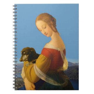 """""""Madonna con el cuaderno artístico del Dachshund"""""""