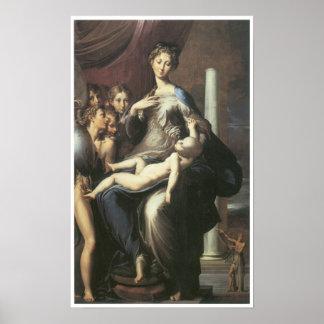 Madonna con el cuello largo, 1534-40 poster