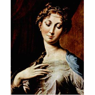 Madonna con el cuello largo por Parmigianino Fotoescultura Vertical