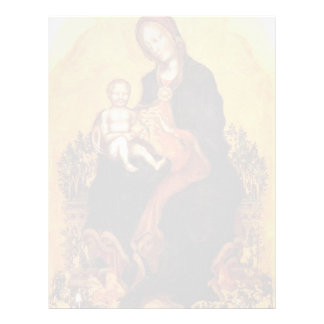 Madonna con el niño de Fabriano gentil Membrete