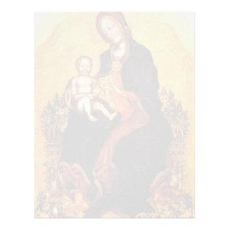 Madonna con el niño de Fabriano gentil Membretes Personalizados
